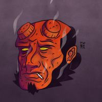 Hellboy by tedikuma