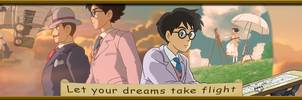 Let your dreams take flight-Hayao Miyazaki Tribute by ninjassinwolf