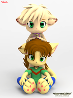 Angel And Annie (3d models) by bbmbbf
