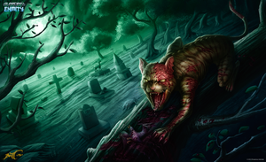 Zombie Cat by feintbellt