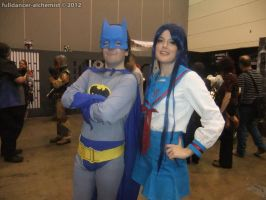 Armageddon Expo 2012 - Batman and Ryouko Asakura by fulldancer-alchemist