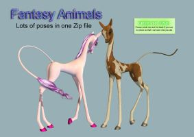 Fantasy Animals PNG Stock Pack by Jumpfer-Stock