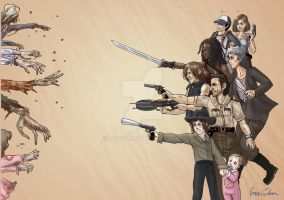 Walking Dead fanart by Aedua