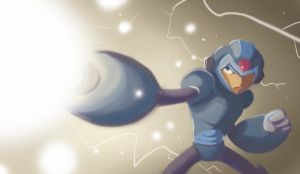 Doodle Time: Mega Man X by MJRainwater
