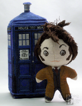 The Tenth Doctor 3D Cross Stitch Doll by rhaben