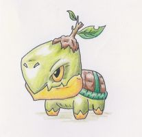 Evil Turtwig by Oloring