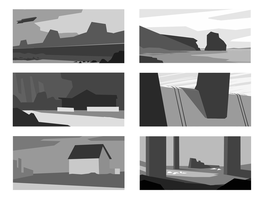 Composition sketches by Trooppa