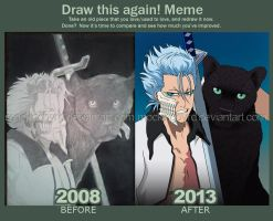 Grimmjow and Panther-Before and After by Mockingbyrd