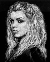 Rose Tyler in Scratchboard by LKBurke29
