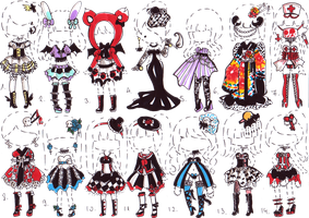 CLOSED- Goth clothes by Guppie-Adopts