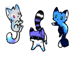Blue Kitty Adoptables (CLOSED) by Doom-Duck