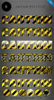 Caution Premium Text Styles by Romenig