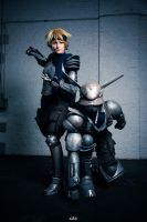 Appleseed  Deunan and Briareos by Hime-sOph
