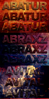 Crazy Textured Photoshop Text Styles by loswl