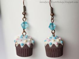 Cupcake earrings by Panna-Kot