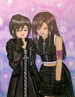 KH-FF7: Tifa and Xion by dagga19 by dagga19