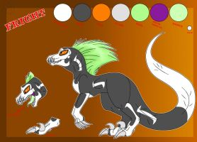 Fright the Raptor - Reference by Marcella-Youko