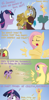 Cobalt Snow's Twilight Fluthershy Comic by Adequality