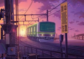 Evening Train by experiment626monkey