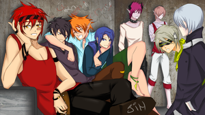 Guys of GC -- coloured by SeiKay07