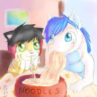 noodles by NiniLiger