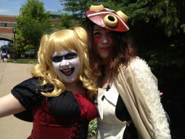 Harley Quinn hangs With Princess Mononoke by BakaShinagami