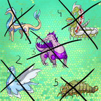 All Sold - Fakemon adoptables by Draareg