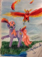 Me with a Phoenix by theoddlydifferentone