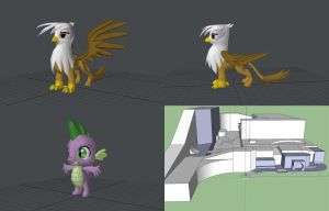 More 3D modelling WIPs by sheepytina