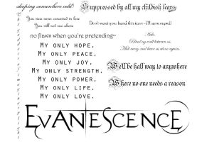Evanescence lyrics brushes. by Sankaku69