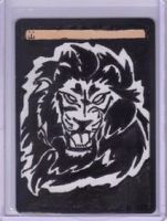 Altered Magic Card: Lion by JessWells
