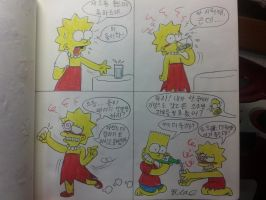 The simpsons:Lisa,be confused(Cartoon) by komi114
