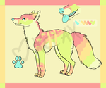 Fruity Sparkledog Custom for Pastel-Candy by Xecax