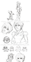 Wreck-It Ralph Sketch Dump 2013 by Vega-Three