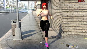 Scarlet-Jogging by ManbeastMan