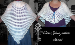 Caron Shawl -with pattern- by KitWolfren