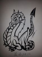 Baby Dragon Tribal by lugialagia