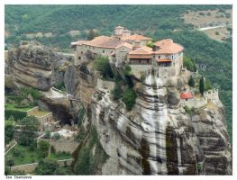 Meteora's monasteries 1 by red-addictive