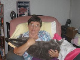 233 my Mother and Smokey again by crazygardener