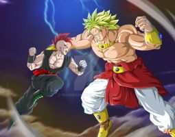 OC : Dragon versus Broly by Maniaxoi