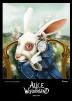 White Rabbit Poster by vampirekingdom
