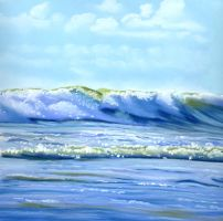 ocean waves by classina