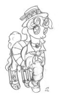 Steampunk pony by otherunicorn