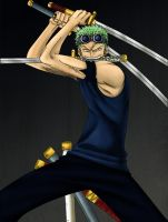 One Piece- Zoro by Sumoka
