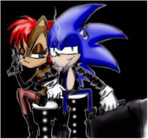 Sonic and Sally by germany-germany