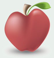 Magic Gradient Mesh Apple by Spambi
