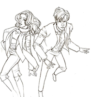 DW: Pond and The Doctor -WIP- by woodstock-chan