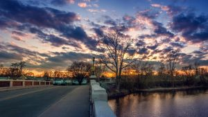 Fort Wayne Spring Sunset IV by redwolf518