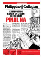 Philippine Collegian issue 22 by kule-0809