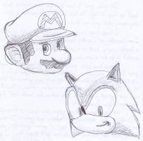 Mario and Sonic by RikMcCloud